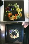 Flower wreath embroidery by RoninAway