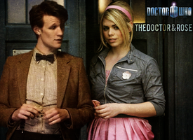 11th Doctor and Rose Poster by feel-inspired