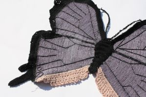 Knitted Butterfly by WhiteMagicPriestess