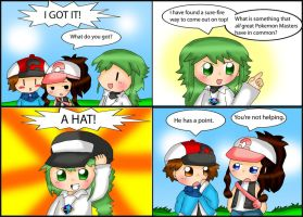 Pokemon Black and White Comic: Hats by purplemagechan