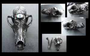 Eyeball Fox Skull by drakhenliche