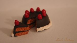 Miniature Chocolate/Caramel Cake by EmisBakery