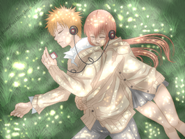 listening to our sweet music by xAnimeFreak666x