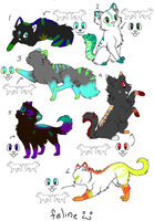 Cat adoptable batch 2 by Little-Bird-Adopts
