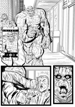 Fantastic Four Sequential Sample artwork page 5 by brianrobinson