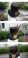 Commission: Steampunk Wonky Tophat by ImperialFiddlesticks