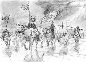 Marching into the Storm, Battle of Largs, 1263 AD by FritzVicari