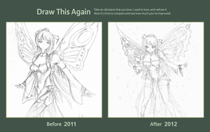 Draw this again: The Fairy by AdamentSnow