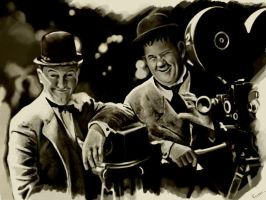 laurel-hardy by shkshk7