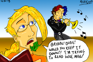 Trent's trying to read by TromboneGothGirl84