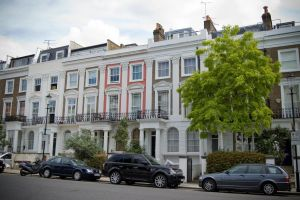 Pastel houses Notting Hill by LunaticDesire