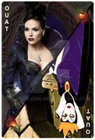 OUAT Card Evil Queen by jeorje90