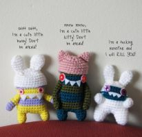 Little monsters 1 by hellohappycrafts