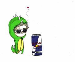 Dinosaurs love red bull... by Stimbleweed