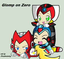 Glomp on Zero by Shadethebathog