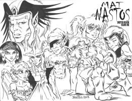 ElfQuest: Siege on Blue Mountain sketchcover by ElfSong-Mat