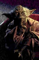 Yoda - digital oil painting by nnnuts