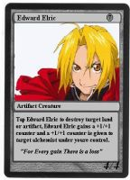 Edward Elric Magic Card by Malekar