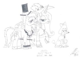 MLP:FiM - Pencil Magic's uncle and aunt by MortenEng21