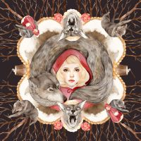 Red riding hood scarf design by RIETY