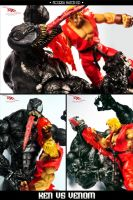 Ken Masters VS Venom - MatchUP by GhenKnight