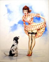 Wet Dog pinup by karlhcox