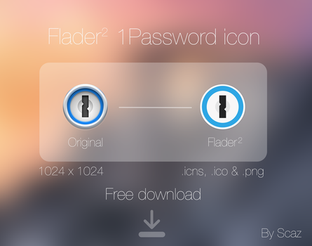 Flader 2 : 1Password icon App by scafer31000