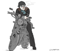 Biker Sherlock. by superfizz
