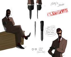 TF2- Forsaken : Spy studies by camiluna27