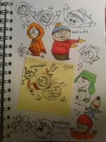 South Park Doodles by cartoonwho