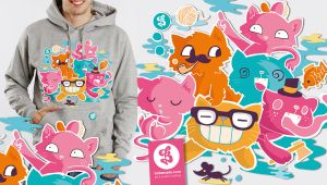 Stupid Cats Hoodie by Bobsmade