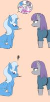 Maud pie and Trixie by suzyumaru