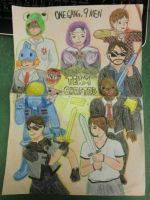 Team Crafted (Skydoesminecraft and his gang) by Dawnlauu