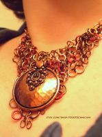 Copper Medallion Chainmail Necklace by ulfchild