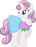Sweetie Belle Stable Tec by StarryOak