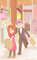 twelve and clara go shopping by AlsTheMighty