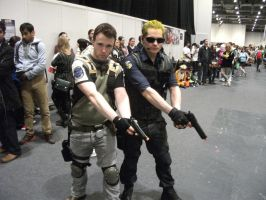 Chris and Wesker by Awinnerwasyou
