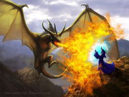 Dragon fight by vandervals