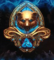 Medallion of bears by isaac77598