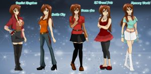Jessica Makezuke A.U. Outfits by setosangel28