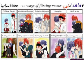 Flirt Meme - Lavi x Lenalee - D.gray-man by juliastiliano