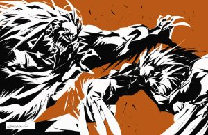 Wolverine vs Sabretooth by johnnymorbius