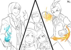 W.I.P Ace Attorney 5 in world of Avatar by Marini4