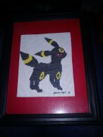 Umbreon Cross stitch by Baka-customs