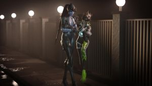 Widowmaker and Tracer: Evening Stroll by hicky22