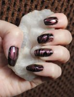 Black and Copper - Marble by M-Everham