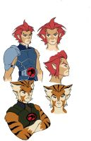 simple sketches of liono and tygra by KingJames06