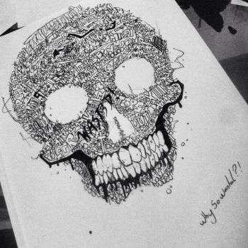 talkative skull by Jenocyd