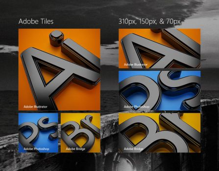 Adobe Start Tiles Experiment by aphaits