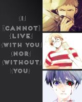 I cannot live with you nor without you by Hetalia564
